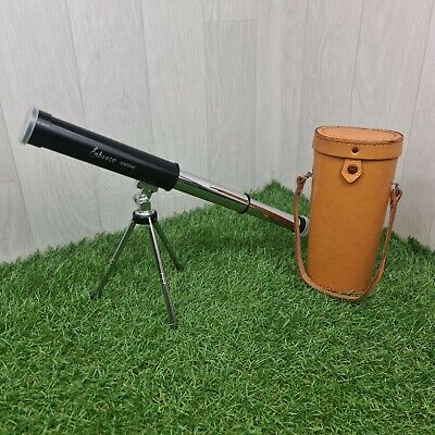 £29.95 • Buy Vintage Enbeeco 30 X 30mm Pocket Telescope Spyglass In Leather Carry Case *Rare*
