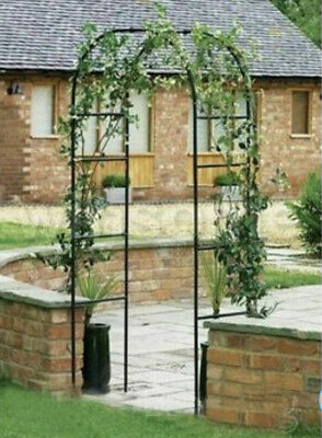 £16.99 • Buy Metal Garden Arch Heavy Duty Strong Rose Climbing Plants Archway Outdoor 2.4M
