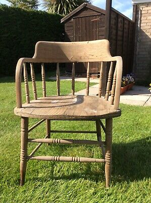£35 • Buy Vintage Captains/desk/ Smokers Bow Chair. Project.