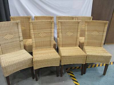AU350 • Buy 8 High Backed Cane/Wicker Dining Chairs