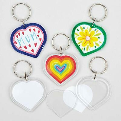 £11.99 • Buy Make Your Own Heart Keyring Kit (Pack Of 6), For Kids To Assemble And