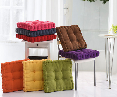 £10.29 • Buy Cotton Chunky Booster Cushion Thick Seat Pads Chair Armchair Garden Sofa Seat