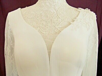 £50 • Buy Special Occasion/wedding Dress In Ivory Size 8 By Veni Infantino