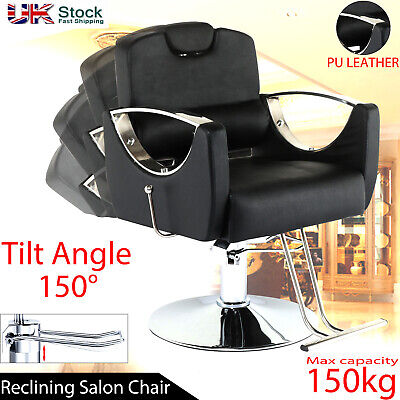 £156.99 • Buy Adjustable Hydraulic Reclining Barber Hairdressing Chair Beauty Salon Chair NEW