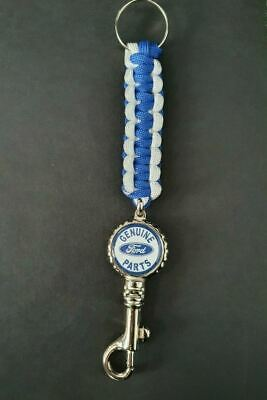 £6.99 • Buy Genuine Ford Parts ! Double Sided Logo Paracord Trigger Dog Clip Keychain