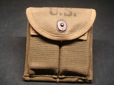 $35 • Buy Original WWII 1943 Dated US Military M1 Carbine Rifle Ammo Magazine Pouch GEN S