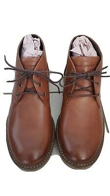 £19 • Buy Rockport Sharp & Ready Chukka Leather Boots New Size 7 Brown Lace Up