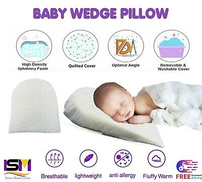 £9.95 • Buy Baby Wedge Foam Pillow Sleep Safety Pillow Anti Reflux Colic Congestion Toddler