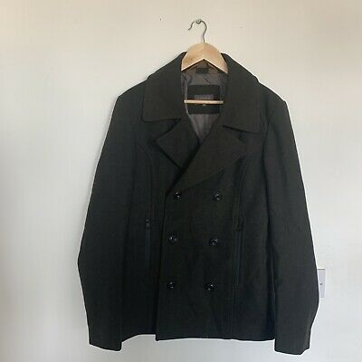 """£12.50 • Buy M&S Wool/polyester, Dark Green Pea Coat. 36-38"""" Excellent Condition."""