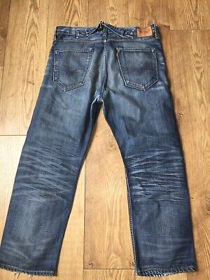 £6.95 • Buy Vtg Levis Jeans Mens Size W33 L29 Cinch Back Loose Relaxed Fit Ideal Work Jeans