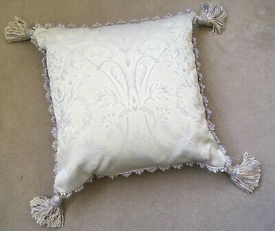 £4.99 • Buy Lovely DORMA Cushion Mauve & Champagne With Embellishment And Tassels