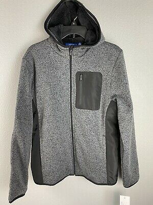 £21.29 • Buy Apt. 9 Mens Faux Fur Lined Hooded Jacket Size Small Reg . $ 80 Gray