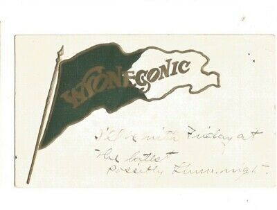 $9.99 • Buy  Camp  Wyonegonic Pennant  Pm Maine To New Hampshire