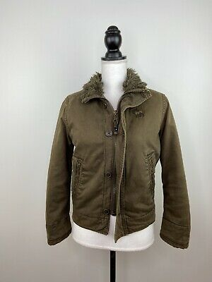 £43.45 • Buy Abercrombie & Fitch Adirondack Faux Fur Lined Military Jacket Men's - Size S