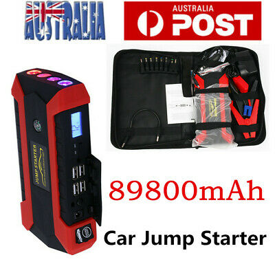 AU56.88 • Buy 89800mAh Car Jump Starter Vehicle Charger Power Bank Pack Battery Engine Booster