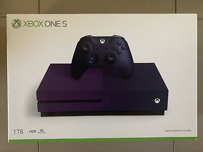 AU460 • Buy Xbox One S 1TB Limited Edition Purple Boxed *as New*
