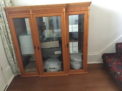 £8 • Buy Wood And Glass Display Cabinet In Good Condition