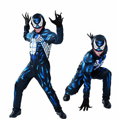 £13.69 • Buy Venom Muscle Costume For Kid Boy Jumpsuit Cosplay Halloween Carnival Outfit Gift