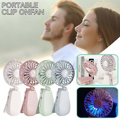 AU14.99 • Buy Handheld Fan, Portable Fan With USB Rechargeable Battery Operated Fan With Clip