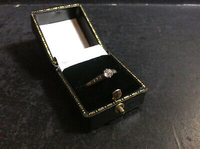 £250 • Buy Antique 18Ct Gold Old Rose Cut Diamond Solitaire Ring (0.33Ct 1/3Ct) Size P1/2