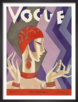 £5.95 • Buy Vintage Vogue July 1926 Fashion Beauty Magazine Cover Wall Art Poster A4 And A3