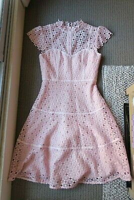 AU49.99 • Buy Bnwt New With Tags Forever New Ella Lace Skater Blush Pink Dress - Sz 6 - $160
