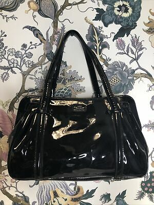 £17 • Buy Lulu Guinness Black Large Patent Leather Hand Bag W/mirror- Defective|Box(C1)