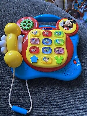 £15 • Buy CLEMENTONI DISNEY MICKEY MOUSE Lights & Sound TOY TELEPHONE PLAY & LEARN PHONE