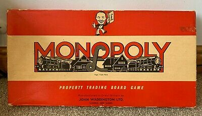 £12.99 • Buy Vintage 1961 Monopoly Board Game With Classic Red Box Waddingtons - Complete!