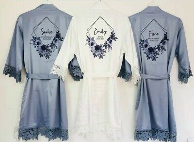 £14.99 • Buy Bridesmaid Robes, Satin Lace Wedding Robes, Bridal Robes, Bride Dressing Gown