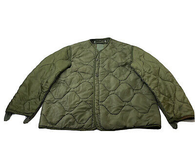 $25 • Buy Military Coat Liner M65 Quilted Foliage Green Cold Weather Field Jacket Liner 87