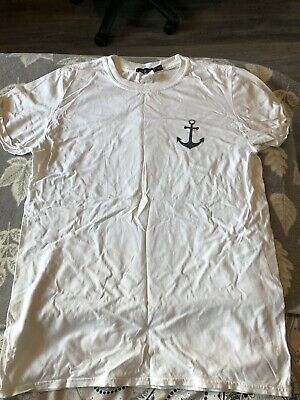 £1.99 • Buy Missguided White Anchor T-Shirt Size Medium