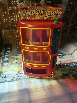 $25 • Buy Mars M&M's Candy Vending Machine Penny Bank 2004 Snickers Twix Skittles Fun Size