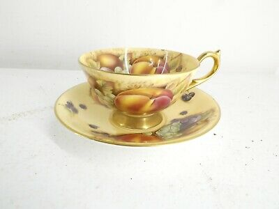 £70 • Buy Aynsley Orchard Gold Cup And Saucer Fruit Design Multi Coloured. J18