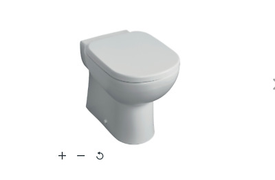£39 • Buy B&Q Ideal Standard Tempo Contemporary Back To Wall Boxed Rim Toilet Pan  / New
