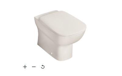 £39 • Buy B&Q Ideal Standard Studio Echo Contemporary Back To Wall Boxed Rim Toilet Pan