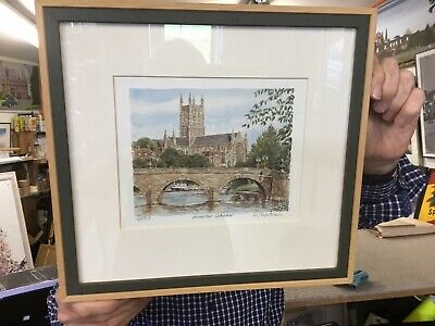 £20 • Buy Framed Mounted Print 348/850 Worcester Cathedral Signed Print