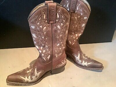£40 • Buy Ladies Sancho Hand Made Cowboy Boots, Real Leather
