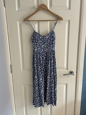 £0.99 • Buy New Look Women's Blue Floral Sleeveless Button Front Summer Midi Dress, 10