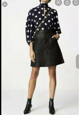 AU300 • Buy Scanlan And Theodore Leather Black  Skirt - Size 10