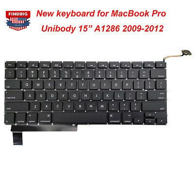 $13.99 • Buy New Keyboard Replacement For MacBook Pro 15  Unibody A1286 2009 2010 2011 2012