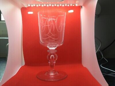 £19.99 • Buy Whitefriars Glass Goblet Engraved By Geoffrey Baxter.