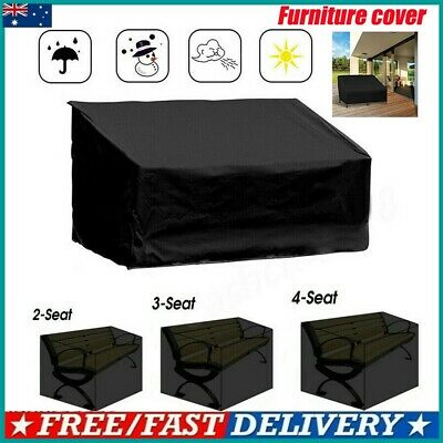 AU23.98 • Buy Heavy Duty Waterproof Garden Outdoor 2/3/4 Seater Bench Seat Cover All Sizes Au