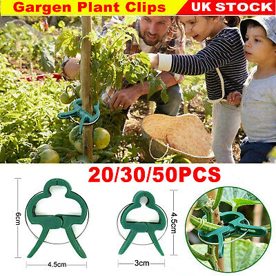 £2.89 • Buy Garden Plant Clips Seedlings Plants Support Tools Small Large Grow 2 Sizes UK