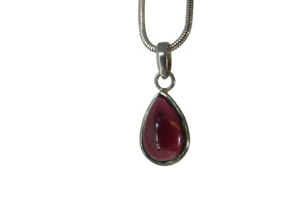 AU9.21 • Buy Ladies Silver Necklace & Pendant With Cabochon Stone For Women Jewellery
