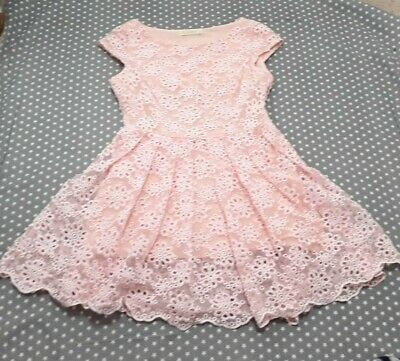 £0.99 • Buy Ladies Teen Pink Lace Party Dress Mangosteen Size 10 Women Occasion Wedding Prom