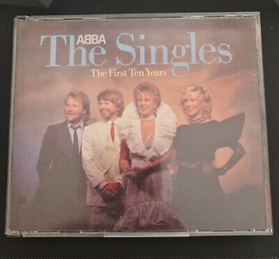 £7.99 • Buy Abba - The Singles - RARE Silver Face POLAR Issue 2 X CD Fatbox West Germany