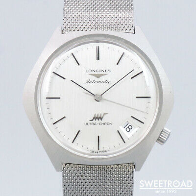 £605.26 • Buy 1970s Antique LONGINES ULTRA-CHRON Ref.8442-4 Date One Piece Case 39mm Automatic