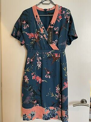 £9.10 • Buy Phase EightKimono Peacock Dianah Floral Print Dress UK10 New With Tags