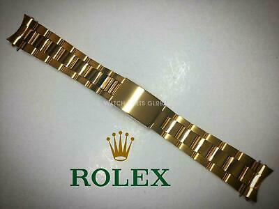 £39.99 • Buy New 19mm Oyster Gold Plated Bracelet Watch Strap For Rolex Oyster Datejust Tudor